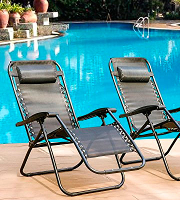 Review of Denny International DI-Z001-B Black Textoline Zero Gravity Reclining Garden Sun Lounger Chair