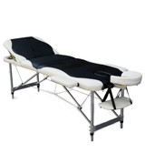 KMS FoxHunter Black White Luxury Portable Lightweight Massage Table