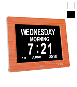 YCOO HD-digitalA Wall Clock, 8 Digital Calendar Clock