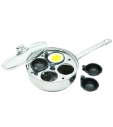 KitchenCraft KCCVPOACH 4-Cup Egg Poacher/Sauté Pan