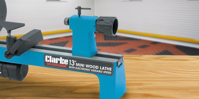 Clarke Variable speed Mini Wood Lathe in the use