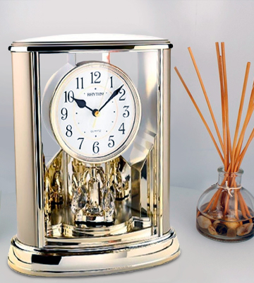 Review of Rhythm Clock 4SG724WR18 Mantel Clock Contemporary