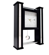 Hometime Ultra Modern Mantel Clock or Wall with Moving Pendulum