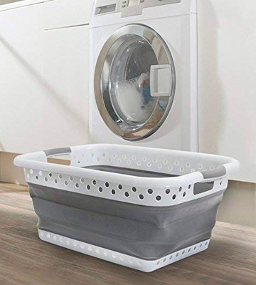 Review of Denny International Folding collapsible Laundry Oval Basket House Washing Cloth