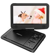 "COOAU 10.5"" Portable DVD Player with 5-Hours Rechargeable"