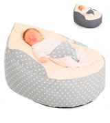 RUComfy RUCGAGASTARSPLATINUM Luxury Cuddle Soft Stars Gaga Baby Bean Bag (Platinum)