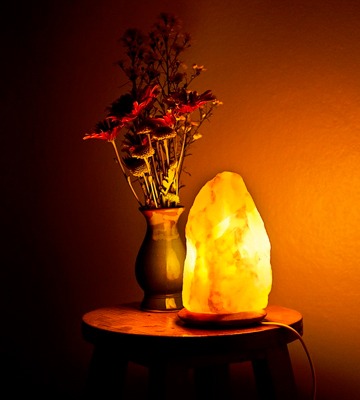 Review of Magic Salt Himalayan crystal pink rock salt lamp weight 3-5 kg height 17-21 cm