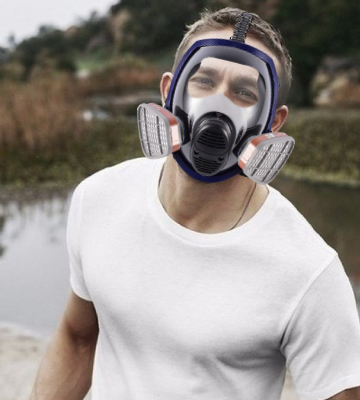 Review of Ohmotor Full Face Absorb Steam and Dust Respirator Mask Activated Carbon