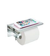 Worldwell Toilet Roll Storage with Moblie Phone Holder Stand