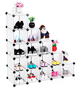 SONGMICS LPC44S Interlocking Shoe Rack