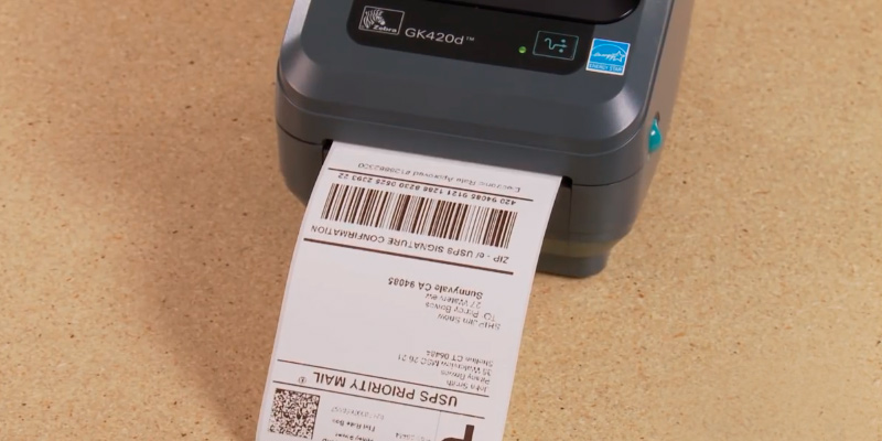 Zebra GK42-202520-000 Direct Thermal Printer 203dpi 8 dot Print Width 104mm in the use