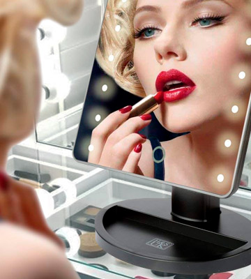 Review of H&S LED Illuminated Cosmetic Mirror Makeup Mirror with Light
