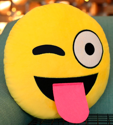 Review of The Fone Stuff Emoji Pillow Sticking Tongue Out Cushion Emoticon Plush Smiley Cushion Pillow
