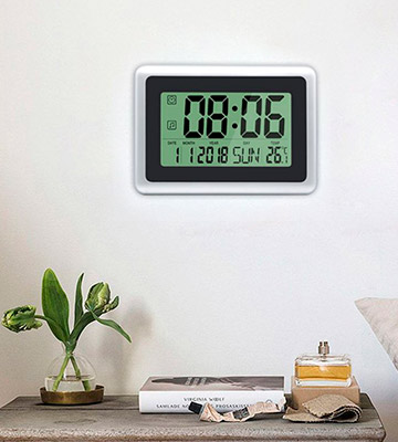 Review of HeQiao 201612021200 Large Digital Wall Clock
