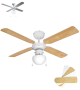 MiniSun Nimrod Modern Ceiling Fan with Light