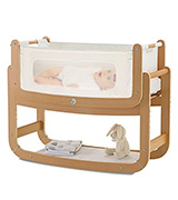 The Little Green Sheep FN001S Bedside Crib and Mattress