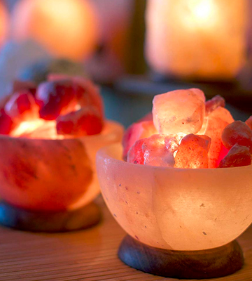 Review of SourceDIY HIMALAYAN CRYSTAL ROCK SALT FIRE BOWL LAMP 6 with Button Control & Chunks