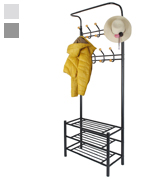 Hapilife DT40N Metal Coat Rack with Shelf