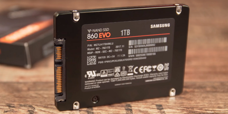 Samsung 860 EVO V-NAND Solid State Drive (2.5 inch, SATA III) in the use