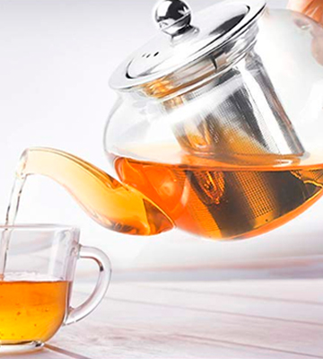 Review of AckMond Apple Shape Clear Glass Teapot