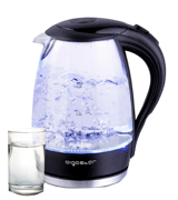 Aigostar Adam 30KHH Glass Water Kettle with LED Lighting