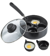 VonShef Non-stick 4 Cup Egg Poacher