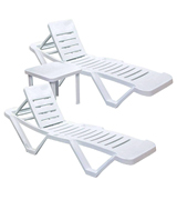 Resol CG209 Pack of 2 Sun Loungers With Side Table