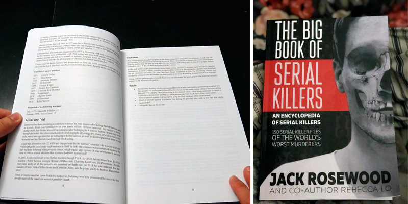 Review of Jack Rosewood The Big Book of Serial Killers: 150 Serial Killer Files of the World's Worst Murderers