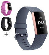 Fitbit Charge 3 Advanced Fitness Tracker for Women