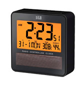 HITO c8374 Travel Alarm Clock w/ Temperature Humidity. Battery Operated w/ Solar Panel