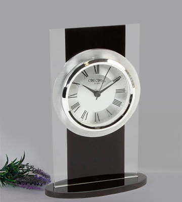 Review of Widdop modern mantle clock Glass and black