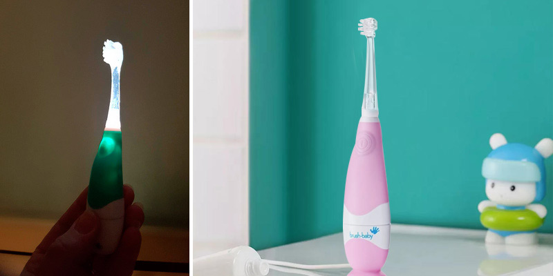 Brush-Baby BabySonic Electric Toothbrush in the use