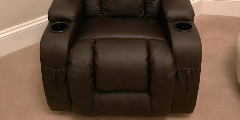 More4Homes (tm) CAESAR 10 IN 1 Leather Recliner Chair Rocking Massage in the use