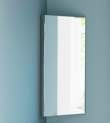 Review of iBathUK 6111 BATHROOM MIRROR Stainless Steel Corner Cabinet Modern Storage Unit MC101