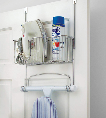 Review of MetroDecor 5579MDLEU Ironing Board Holder with Storage Basket for Clothing Iron