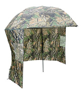 Carp-Corner 183799 Fishing Tackle Brolly Umbrella System with Zip On sides In Camo