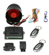 KKmoon 53033899 1-Way Car Vehicle Security System Protection Alarm with Siren 2 Remote