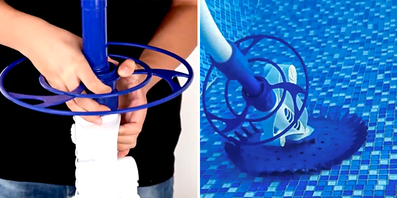 PAXCESS Pool Cleaner Climb Wall Pool Sweeper in the use