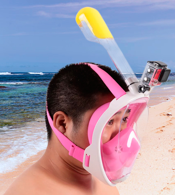 Review of Vaporcombo Snorkel Mask Full View