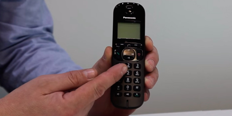 Panasonic KX-TGC222EB Digital Cordless Phone in the use