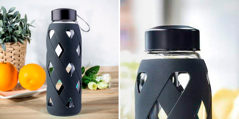 Review of MIU COLOR Glass BPA Free Reusable Eco Water Bottle