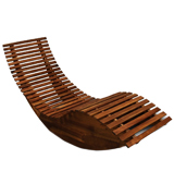 Deuba 101845 Wooden Ergonomic Sun Lounger