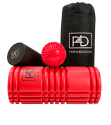 Prime4Design 2 in 1 Set Riggerpoint Rollers with Grid Design Plus Bonus Travel Bag & Exercises Instructions