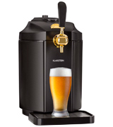 Klarstein TK49-90500-SkBL Beer Tap Dispenser Integrated Thermoelectic Beer Cooler 5 Litre Keg