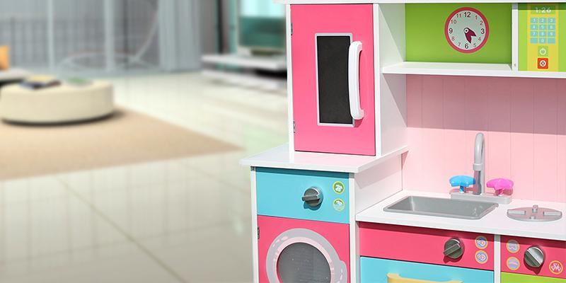 Review of LEKEEZ Modern Large Kids Girls Multicolored Gourmet Wooden Kitchen