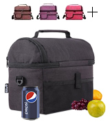 PuTwo 601420326246 Lunch Bag Large Capacity for Insulated Cooler Bag
