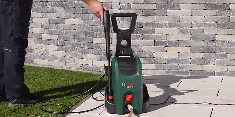 Bosch AQT 37-13 Plus High Pressure Washer in the use