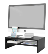 1home FBA_MTR-S2 Wood Monitor Stand
