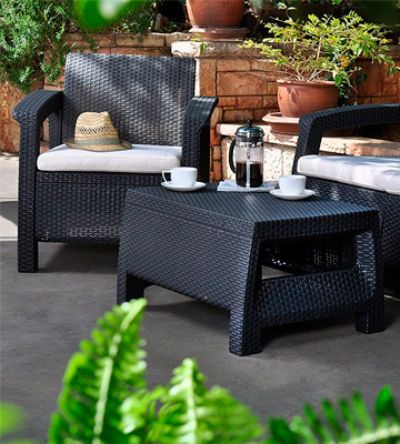 Review of Keter Corfu Rattan Garden Furniture Set
