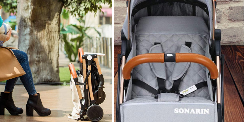 SONARIN Compact Travel Lightweight Stroller in the use